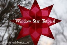 Transparent Paper Window Star Tutorial Homemaking With Monica cakepins.com