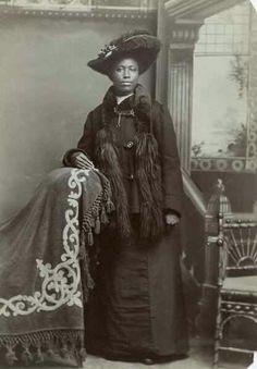 Fannie Hendricks, black Victorian 1890s