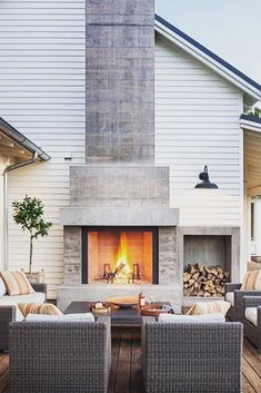 Amazing Outdoor Fireplace Ideas ★ See more: http://glaminati.com/amazing-outdoor-fireplace-ideas/