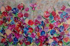 "Saatchi Art Artist Anja Saier; Painting, ""Wild flowers"" #art"