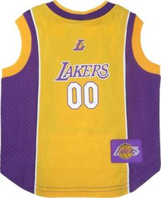 Cotton and mesh tank Los Angeles Lakers dog jersey with screen printed team  logo woven team logo patch embroidered NBA Pet Gear dog apparel logo on  front ... 5b1c4b688