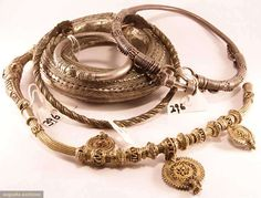 Five Pieces Tribal Jewelry, Early 20th C, Augusta Auctions, MAY 13th & 14th, 2014, Lot 396