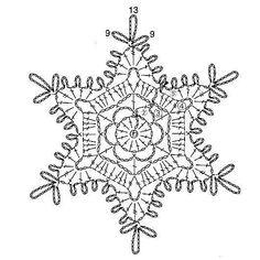 15 crochet snowflakes patterns- free patterns - Turquoise with vanilla Crochet Christmas Decorations, Crochet Decoration, Crochet Ornaments, Christmas Crochet Patterns, Holiday Crochet, Christmas Knitting, Free Crochet Snowflake Patterns, Tree Decorations, Crochet Motifs
