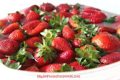 My strawberries last so much longer when I wash them in this solution. I cant believe it! MadeFromPinterest.net