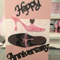 cricut the perfect pair | Perfect Pair Anniversary card I created using ... | Cards/Crafts I ma ...
