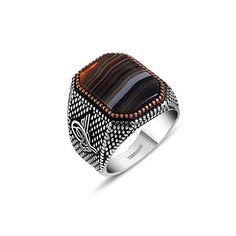 Agate Stone Ring (Size 9)