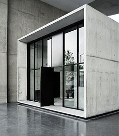 the concrete shed