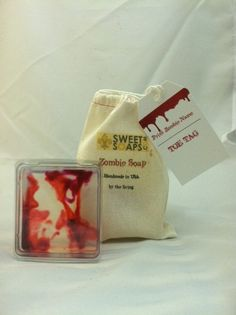 Zombie Soap to ward off brain eaters by Sweet Soaps Zombie Gifts or Zombie presents for that hard to shop for Undead in your life
