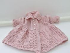 Girls pink merino coat, £37.00