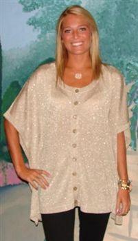 Charlotte Tarantola Over sized Lurex Sweater
