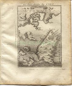 "1719 Manesson Mallet ""Isle de Rhodes"" Rhodes, Greece, Turkey, Antique Map published by Johann Adam Jung by TheOldMapShop on Etsy"