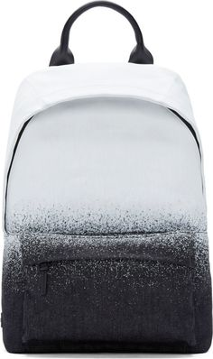 McQ Alexander McQueen Black & White Overpaint Backpack
