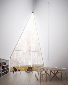 """Cabin of Curiosities"" an ultra-minimalist cabin, was designed by William O'Brien Jr."