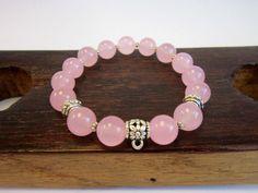 Fertility Rose Quartz Bracelet, Energy Charm Bracelet, Heart Chakra Rose Quartz Bracelet, Love Rose Quartz Bracelet Fertility Bracelet Yoga
