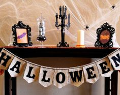 Burlap and Felt Halloween Banner