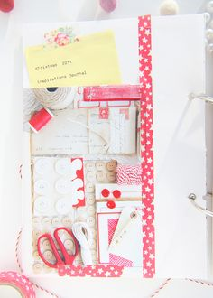 washi tape and baker's twine... someone posted this before me (its my image!) and had a link to their shop selling washi tape on it. uncool.