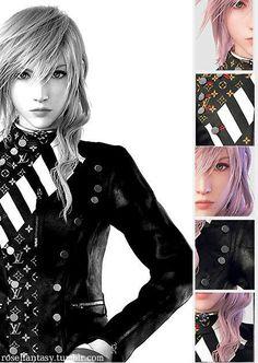 """roseffantasy: """"Lightning Final Fantasy XIII Louis Vuitton jacket edit """""""