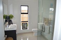 Streamlined design in the ensuite bathroom.