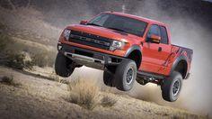 orange desert Ford trucks vehicles F-150 Raptor pickup trucks pickup