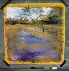Barbara Newton Art Journal: re-using an old pastel painting