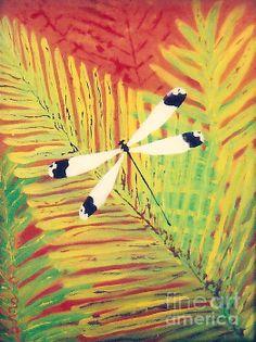Fern Dragon  reverse on plexiglas For prints visit annaskaradzinska.com