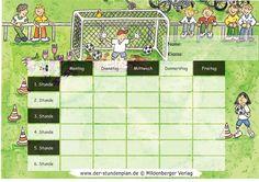 Stundenplan-Vorlage Fußball