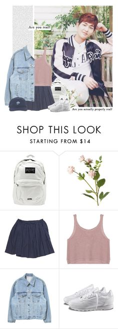 """""""Onew: are you real?"""" by yxing ❤ liked on Polyvore featuring UNIF, OKA, Reebok, kpop, shinee and onew"""
