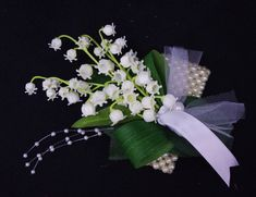 mother of the bride corsages | Lilies of the Valey Wedding Corsage - Mother Corsage Your Choice of ...