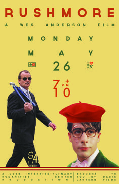 Rushmore Wes Anderson movie poster, may 2014
