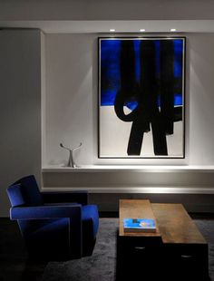 Pierre Soulages - Abstract Art - Informal Painting - In Situ Recessed Spotlights, Recessed Ceiling, Ceiling Spotlights, Ceiling Lights, Painting Inspiration, Interior Inspiration, Tableau Pop Art, South Shore Decorating, Interior And Exterior