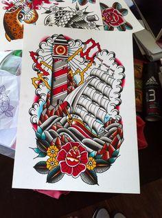 Ship Tattoo Designs 3 | Tattoo Designs, Books and Flash | Last Sparrow Tattoo