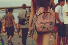 backpack girls tumblr - Google Search