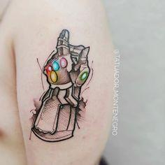 Marvel Tattoos, Avengers Tattoo, Gamer Tattoos, Arm Tattoos, Mini Tattoos, Small Tattoos, Sleeve Tattoos, Tattoos For Guys, Cool Tattoos