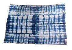 Indigo Dyed Blanket  Patterned by ROHEANDCO on Etsy, $60.00
