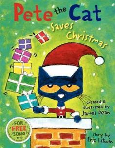 """Your kids will love this Pete the Cat inspired activity! We have been reading many of the """"Pete the Cat"""" books by Eric Litwin and the latest book we read was """"Pete the Cat: I Love My White Shoes. In this book, Pete the Cat takes a walk Christmas Books For Kids, The Night Before Christmas, Christmas Ideas, Holiday Ideas, Christmas Crafts, Christmas 2015, Christmas Countdown, Christmas Tree, Holiday Fun"""