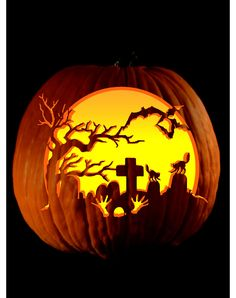 pumpkin carving patterns from zombie pumpkins all hallows eve pinterest zombie pumpkins pumpkin carving patterns and pumpkin carvings - Cool Halloween Carvings