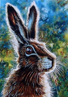Published from one of my watercolours, this signed, numbered and professionally printed picture of a Hare has just been added to my series on