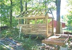 Building a Wood Shed from recycled wooden pallets  Chicken Coop!