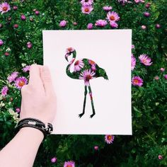 When a Russian Artist Uses Nature to Color Animal Silhouettes, it's Just Awesome. l #naturalsetting #papercutting