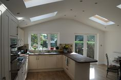 New fitted kitchen in the new extension