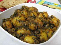 Punjabi Aloo Methi recipe, how to cook Punjabi Aloo Methi ingredients and directions : DesiChef.com