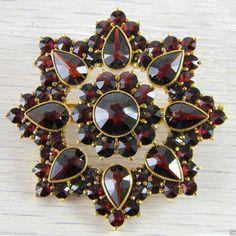 Vermeil 8 Point Star Pin Victorian Bohemian Garnet Brooch Antique An G80 | eBay