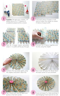 Printable DIY Paper Pinwheel Tutorial | Dream Green DIY- would like the button in the center