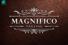 Ad: Magnifico - Luxury Vintage Logo by PenPal on An Premium Logo Template have designed with fine attention to details. Suitable for any kind of business and personal branding which Graphic Design Software, Logo Design, Luxury Logo, Personal Identity, Elegant Logo, Premium Logo, Creative Artwork, Beauty Room, Logo Templates