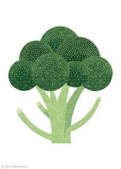 武政 諒 Ryo Takemasa | News & Blog :雑誌『オレンジページ』の野菜特集でイラストレーションを担当しました。 Illustrations for Orange Page magazine.