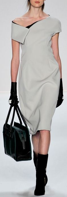 Narciso Rodriguez, Fall-Winter 2012 Nope, you've spoiled it with the boots.  Just because boots are in now doesn't mean you should wear them with everything!