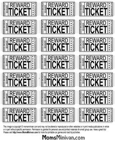 Travel Tickets for kids Printable page #backseat #behavior