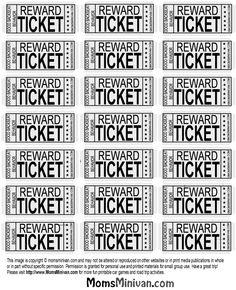 Travel Tickets for kids Printable page #backseat #behavior
