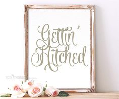 Gettin' Hitched SVG cut file, Wedding by pixelphoenixdesigns on Etsy
