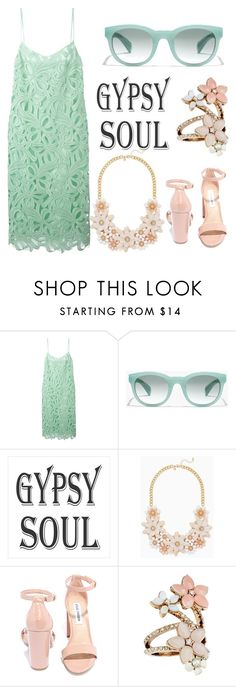 """Mint rapture"" by erohina-d ❤ liked on Polyvore featuring Rochas, J.Crew, Steve Madden and Accessorize"